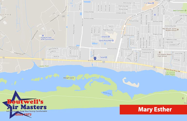 Mary Ester Florida Map.Mary Esther Heating Ac Repair Service Boutwell S Air Masters